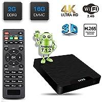 [Upgraded Android 7.1 TV Box] GroGoo VV95 Smart TV Box Amlogic S905W Chipset 2GB RAM 16GB ROM 4K Ultra HD Support H.265 Video Decoder 2.4GHz Wifi