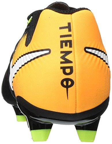 Nike Tiempo Ligera Iv Fg, Chaussures de Football Homme Noir (Black/White-Laser Orange-Volt)