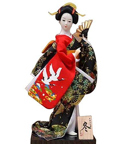 Japanische traditionelle Puppe Geisha Puppe antike japanische Puppen [C]