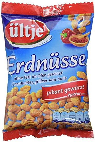 ültje Erdnüsse, pikant gewürzt, ohne Fett geröstet, 6er Pack (6 x 200 g)