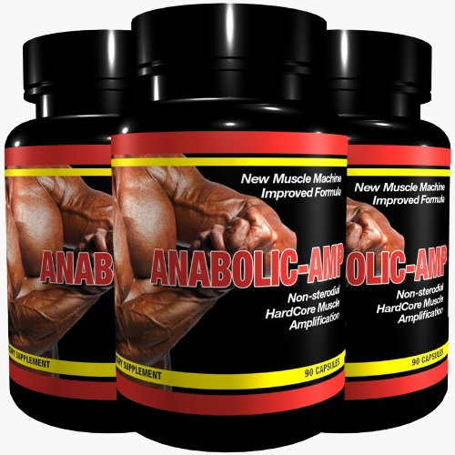 ANABOLIC AMP | 3x 90 Kapseln | Non-Steroidal Hard Core Muscle Amplification |The Original | for MaXimum Results | Muskelaufbau Muskelschutz Muskelstraffung für Männer & Frauen | Premium GMP & ISO 9001 Qualität (Mann-sport Iso Amino)