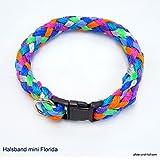 Hundehalsband mini für die Kleinen rundgeflochten Tauwerk Florida (20cm) Halsband kleine Hunde