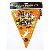 Halloween Spooky Pennant Banner Orange Happy Halloween Indoor Outdoor Bunting