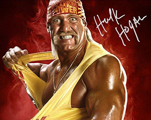 Unterzeichnet Wwe Hulk (Autogrammkarte Hulk Hogan WWE,25,4x 20,3cm, unterzeichneter Fotoabdruck in Laborqualität)