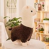 Zinsale Niedlich Alpaka Plüschtier Puppe Schaf Plüsch Kissen Stofftiere (Braun, 45cm)