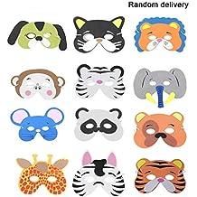 Laurelmartina 12 UNIDS/Set Divertido EVA Niños de Dibujos Animados Máscaras de Animales Viste Disfraz