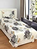 Zesture Bring Home Premium 144 TC Cotton Single Bedsheet with Pillow Cover - Abstract, Multicolour