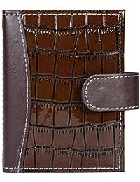 Hide&Sleek Soft Brown Hippo Design Artificial Leather Card Holder