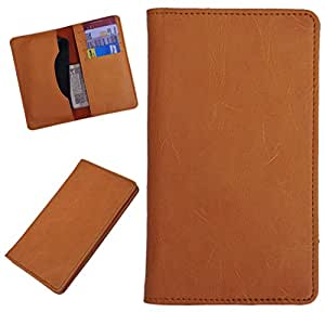 DCR Pu Leather case cover for Lava Icon (orange)