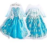 فستان تنكري بلون ازرق للبنات