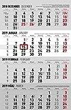 4-Monatskalender 2019 - Wandkalender / Bürokalender (30 x 60 geöffnet) - mit Datumsschieber - mit Jahresübersicht