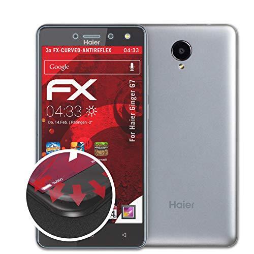 atFolix Schutzfolie passend für Haier Ginger G7 Folie, entspiegelnde & Flexible FX Bildschirmschutzfolie (3X)