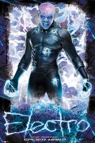 marvel-poster-de-porte-the-amazing-spiderman-2-electro-accessoires-de-fixation-multicolore