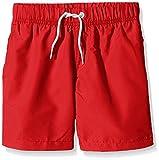 Miami Beach Swimwear Jungen Badeshorts in Unifarben, Rot (Chinese Red 304), 128