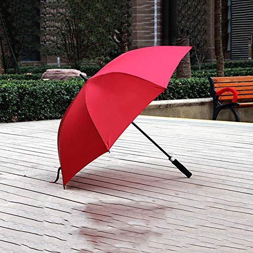 LIIYANN Golf Umbrella Large Size Long Handle Umbrella Extra großer Regenschirm aus Kohlefaser Double Long Umbrella Übergroßer verstärkter Regenschirm (Farbe: Rot)