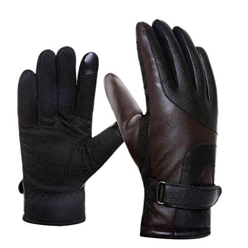 Mzq-yq DREI-Finger-Touchscreen-Warme Handschuhe, Winter-Outdoor-Sporthandschuhe, Winddicht, Kaltreifen, Laufen, Camping, Wandern (Farbe : B, Größe : One Size) -