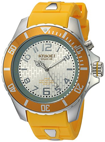 KYBOE Unisex-Adult Analogue Quartz Watch with Silicone Strap KY.48-022.15