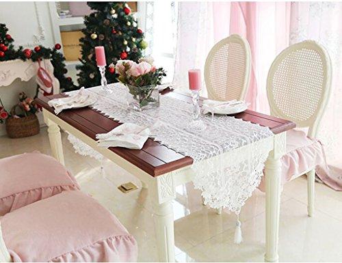 QiangZi Chemin De Table Dentelle Motif Floral Salon Cuisine Bureau Table À Thé Chaussure Meuble Et TV Stand \