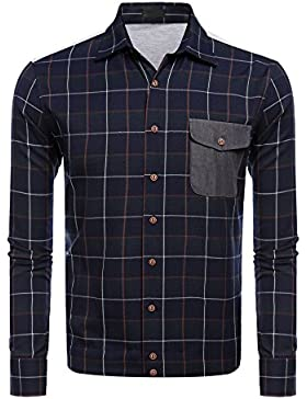 cooshional - Camisa casual - para hombre