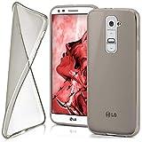 moex LG G2 | Hülle Silikon Transparent Grau Clear Back-Cover TPU Schutzhülle Dünn Handyhülle für LG G2 Case Ultra-Slim Silikonhülle Rückseite