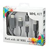 #7: AJM Premium Quality MHL Kit Supported In All MHL Smartphones 6.5 Feet (2M) (Black)