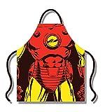 Marvel - Delantal (algodón, tamaño Mediano), diseño de Iron Man, Color Rojo y Amarillo