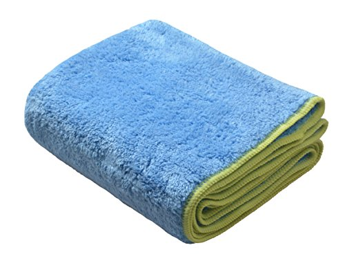 Sinland Plüsch Thick Mikrofaser Pet Handtuch Badetuch Hunde Handtuch mit Tasche 40x100cm (Blau)