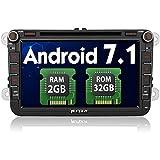 PUMPKIN Android 7.1 32GB + 2GB Autoradio DVD Player Moniceiver für VW mit GPS Navi 8 Zoll/ 20cm Touchscreen Unterstützt Bluetooth DAB+ WLAN...