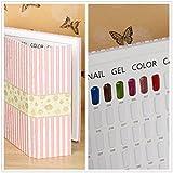 Nacido Pretty 1pc Nail Art Salon 120colores Gel polaco pantalla tarjetas libro Manicura Uñas Arte Color Junta tabla