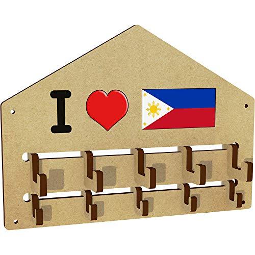 'I Love The Philippines' An der Wand befestigter Kleiderhaken / Gestell (WH00000929) - Philippinen Mantel