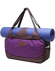 Bolsa de yoga «Vimalaa» de #DoYourYoga fabricada con lona (lienzo de algodón), con un laborioso acabado. ¡Para esterillas de yoga EXTRAGRANDES y SUPERANCHAS! lila