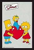 Empire 600776 - Specchio con cornice di plastica e stampa dei Simpson, con motivo a cuore, 20 x 30 cm