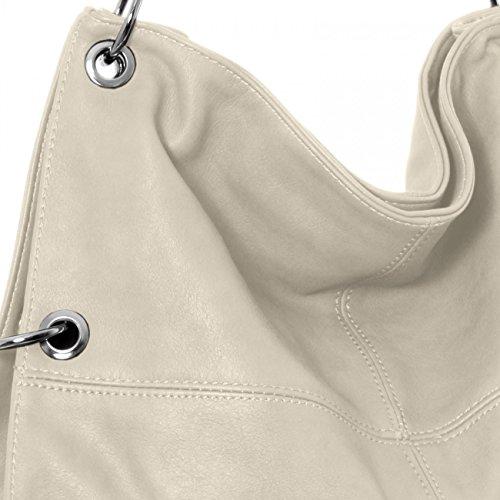 CASPAR TS561 Damen Multifunktions Schultertasche / Umhängetasche Grau