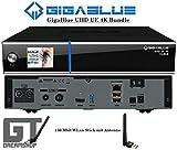 GigaBlue UHD UE 4K Cable 1xDVB-C/C2 FBC&DVB-C/T2 Bundle m.150Mbit WLAN Stick m. Antenne