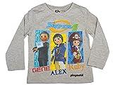 Playmobil Official Boys T-Shirt Long Sleeve 3Years Grey