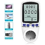 Medidor de Consumo de Energía, Conector 16A / 3680W Medidor de Potencia de Salida con LCD, Protección Contra Sobrecarga y 7 modos para Ahorro de Energía KW47