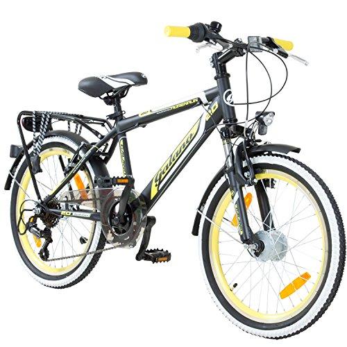 20 Zoll MTB Jugendfahrrad Galano Adrenalin Kinderfahrrad Mountainbike, Farbe:schwarz/gelb