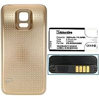 Akku-King batteria per Samsung Galaxy S5 Mini, S5 Dx, SM-G800F - sostituita EG-BG8000BBE - 3800mAh Li-Ion , Color:oro