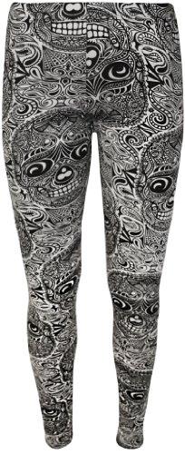 WearAll - Animal aztec crâne imprimé long leggings - Pantalons - Femmes - Tailles 36 à 42 Large Crâne