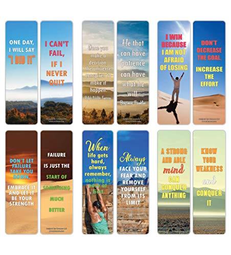 -Karten mit Zitaten und Zitaten (30 Stück) - Premium Geschenke Lesezeichen für Bücherwurm - Strumpffüller für Männer und Frauen, Teenager, Erwachsene ()