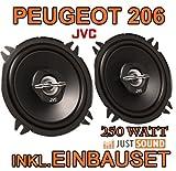 Peugeot 206 - Lautsprecher hinten - JVC CS-J520 - 13cm Koaxe Lautsprecher