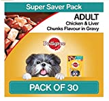 #8: Pedigree Gravy Adult Dog Food Chicken & Liver Chunks, 80 g (Pack of 30)