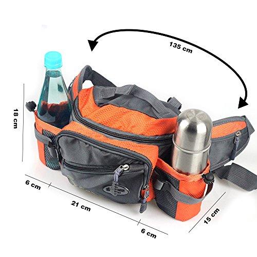 Imagen de bolso de cintura riñonera táctico multifunción de deporte de la cremallera bolsa de botella bolsillos impermeables riñonera de ocio al aire libre bolsa de hombro único bolsa sling bolsa  alternativa