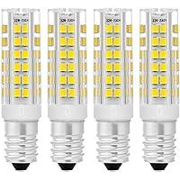 Sunix 4pcs 7W E14 LED, 75 2835 SMD LED, 400-430 LM, non dimmerabile, bianco freddo, 6000K, 360 gradi angolo del fascio, Luce ceramica lampadina LD876 - 7000 Corpo
