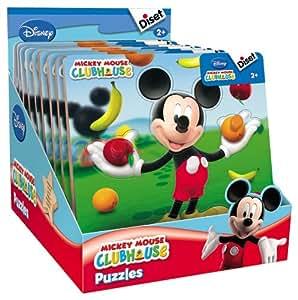 Diset - 46168 - Puzzle - Encastrement Mickey Personnage - Display 12 Unités