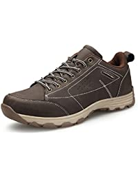 Zapatillas Trekking Hombre, Impermeables Verano Deporte Zapatos Senderismo Montaña Deportivas Running Negro Marrón ...