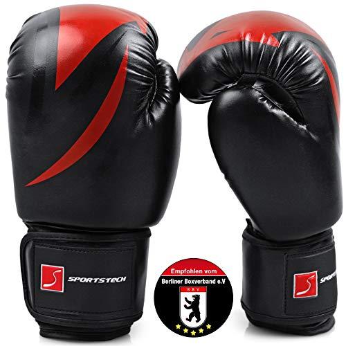 SPORTSTECH Kinder-Boxhandschuhe,Schwarz, 8 oz