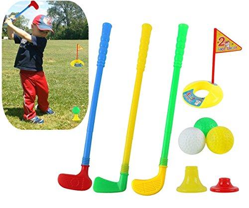 WJkuku Kunststoff Golf-Sets, willway Golf Clubs Bildungs-Spielzeug für Kleinkinder Kids Kinder