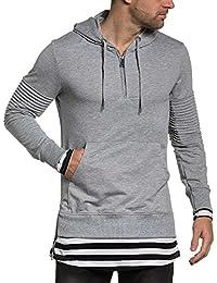 BLZ jeans - Sweat gris homme oversize poche kangourou
