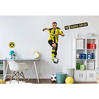 Wandsticker, Wandtattoo, Aufkleber, Poster selbstklebend - Wandsticker BVB - Mario Götze- BVB10261- Bogengröße 37x70 cm